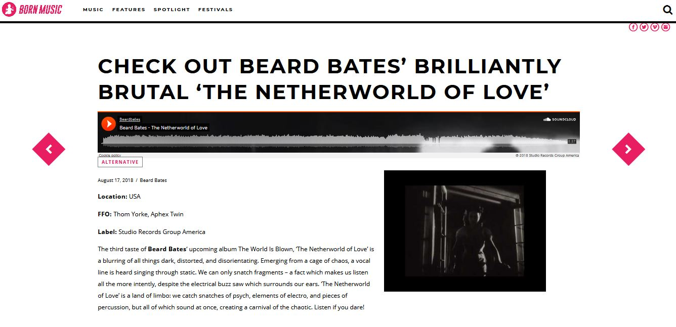 BEARD BATES - BORN MUSIC NETHERWORLD REVIEW