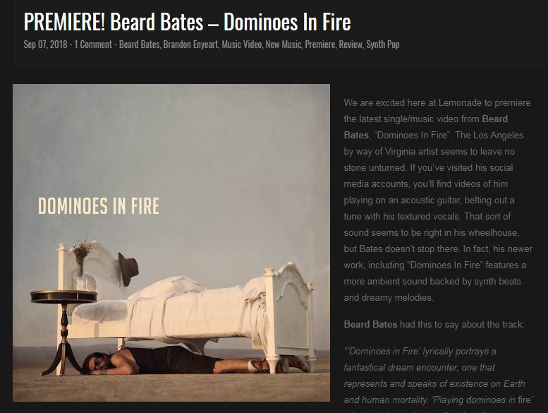 beard bates dominoes in fire lemonade magazine