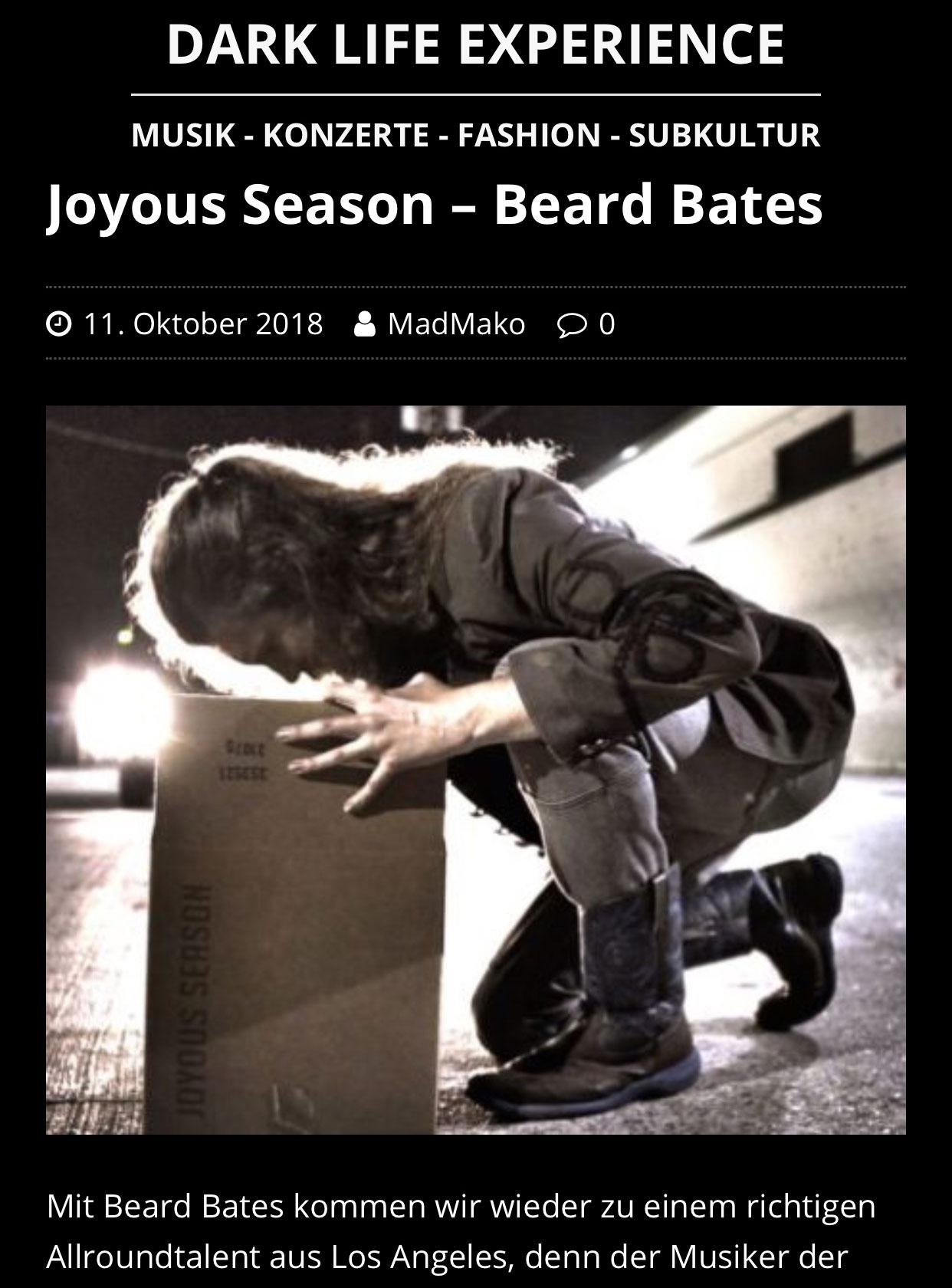 BEARD-BATES - DARK-LIFE-EXPERIENCE - Joyous Season