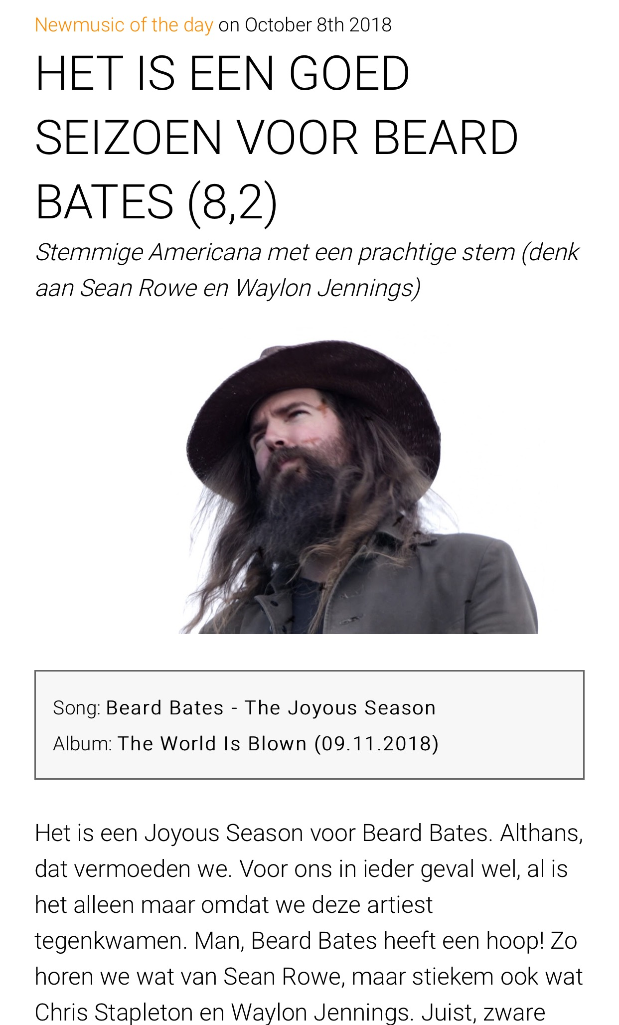 Beard Bates - Gobsmag - Joyous Season Feature